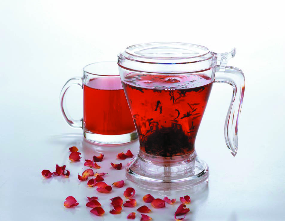 maker high grade bpa free tritan plastic gravity feed tea infuser