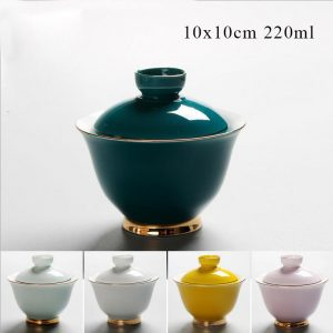gaiwan green with gold