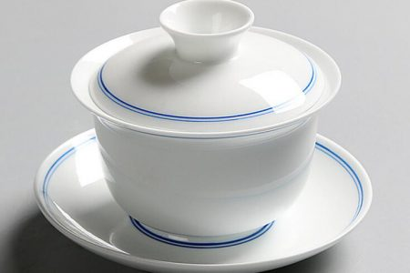 Gaiwan - white with blue